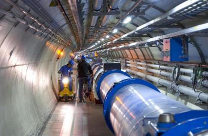 CERN - wewnątrz tunelu LHC