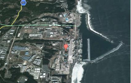 Elektrownia jądrowa Fukushima Daiichi na Google Earth - 2013