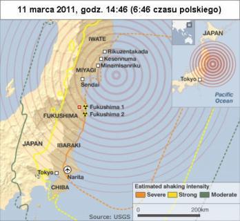 Trzęsienie ziemi w Japonii 11 marca 2011