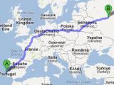 Codzienna podróż biomasy z Moskwy do Lizbony
